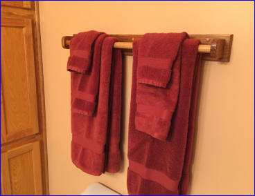 Completed Towel Rack Plan