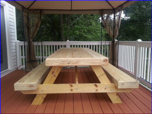 Completed Super Picnic Table Plan